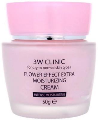 Крем для лица УВЛАЖНЕНИЕ «3W CLINIC» Flower Effect Extra Moisture Cream, Корея, 50 гр