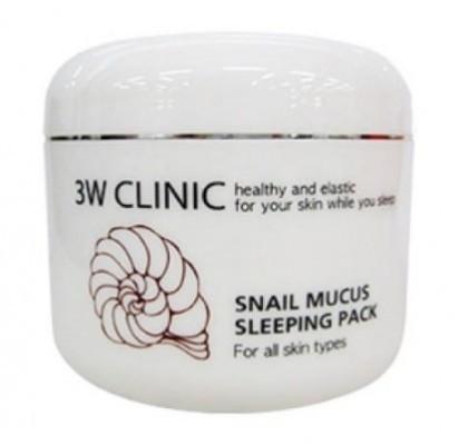 Маска д/лица ночная УЛИТОЧНЫЙ МУЦИН «3W CLINIC»Snail Mucus Sleeping Pack, Корея, 100 мл