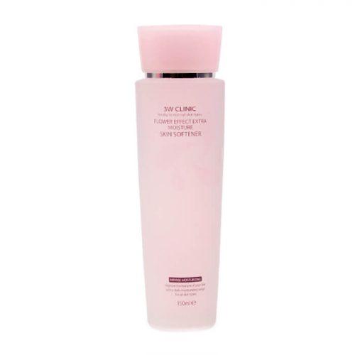 Скин-тоник для лица УВЛАЖНЕНИЕ «3W CLINIC»Flower Effect Extra Moisture Skin Softener, Корея, 150 мл